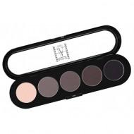 Палитра теней, 5 цветов Make-Up Atelier Paris T20 тона серого цветного: фото