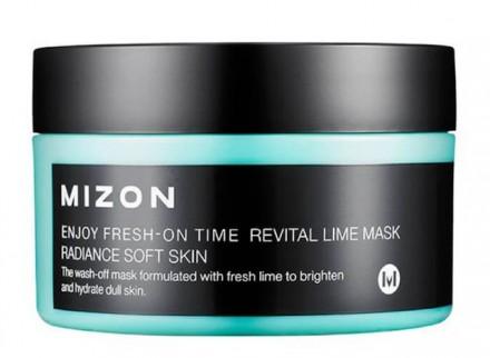 Маска увлажняющая с экстрактом лайма MIZON Enjoy Fresh On-Time Revital Lime Mask 100мл: фото