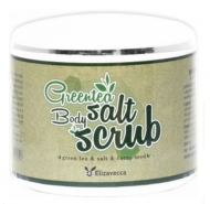 Скраб для тела с экстрактом зеленого чая ELIZAVECCA Milky piggy greentea salt body scrub 600г: фото