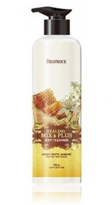 Гель для душа Ароматерапия - Мед и белый жасмин DEOPROCE Healing mix & plus body cleanser honey white jasmine 750г: фото