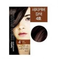 Краска для волос на фруктовой основе Welcos Fruits Wax Pearl Hair Color #04 60мл*60г: фото