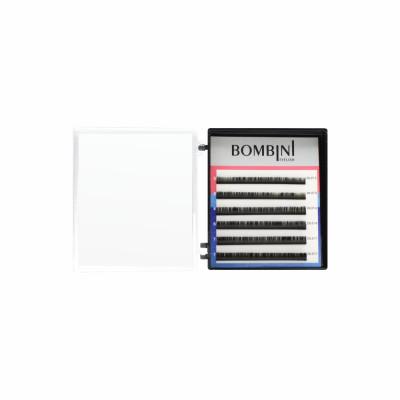 Ресницы Bombini Черные, 6 линий, изгиб D - mini-MIX 5-7 0.07: фото