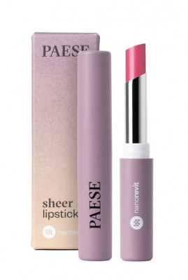 Помада-блеск PAESE SHEER LIPSTICK NANOREVIT 31 Natural Pink: фото