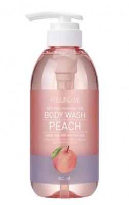 Гель для душа с экстрактом персика WELCOS AROUND ME Natural Perfume Vita Body Wash Peach 500мл: фото