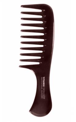 Расческа-гребень с ручкой Titania 14,5см коричневая: фото