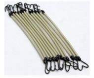 Резинки для волос на крючках Sibel 12шт белые: фото