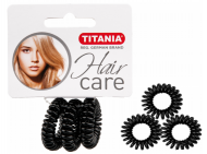 Резинки-пружины для волос Titania Anti Ziep 2,5см черные 3шт: фото