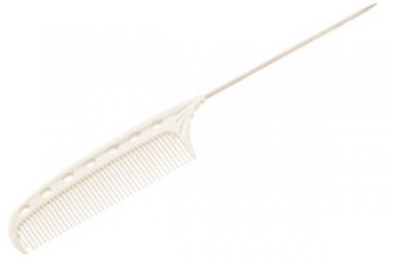 Суперкороткая расческа с металлическим хвостиком Y.S.PARK YS-103 белая (стандартные зубцы): фото
