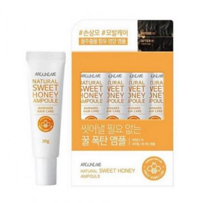 Сыворотка для волос Welcos Around me Natural Sweet Honey Hair Ampoule 20мл*4: фото